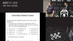 Embedded thumbnail for DEF CON 24 - Joshua Drake, Steve Christey Coley - Vulnerabilities 101