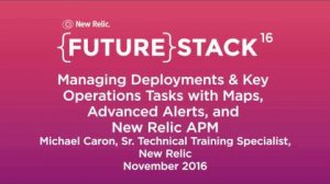 """Embedded thumbnail for FutureStack16 SF: """"Managing Deployments & Key Operations Tasks,"""" Michael Caron Part 2"""